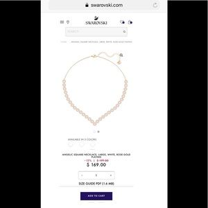 Swarovski Jewelry - Rose Gold Angelic Swarovski Necklace With Umbrella